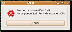 Xsane: no se puede abrir perfil de escaner ICM - Imagen 1