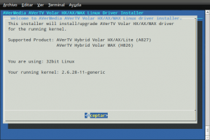 AVerMedia Volar HX: drivers para ubuntu 9.04 (parte I) 3