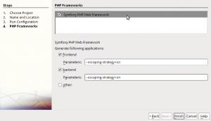 Nuevo proyecto Symfony en Netbeans