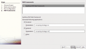 Netbeans - Proyecto Symfony