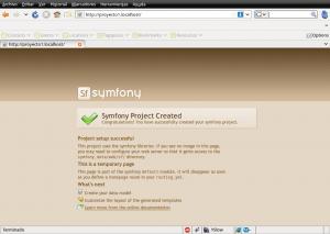 Symfony - ejecutando Proyecto1