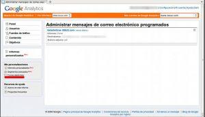 Google Analytics: recibir las estadísticas por correo eléctronico - Imagen 3