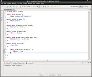 Eclipse - Formatear codigo java. Nuestro código fuente sin ordenar.
