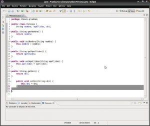 Eclipse - Formatear código java. Código ya formateado