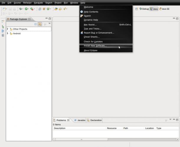 Eclipse - Instalar sdk Android