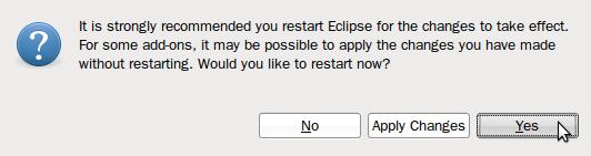 Eclipse - Reiniciar eclipse