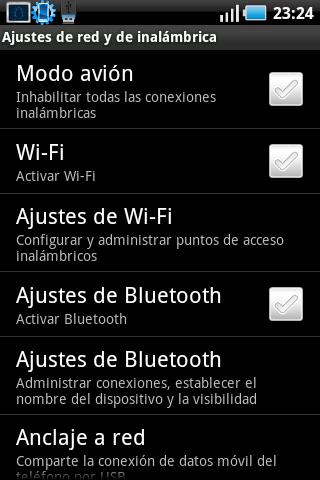 Wifi fuera de rango. Ajustes de red e inalambrica