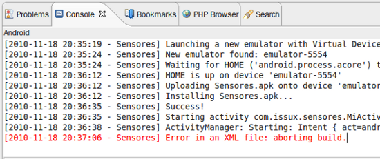 Eclipse: error strings.out.xml en android - Imagen 1