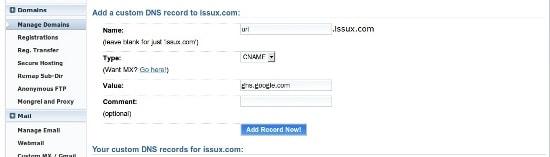 Google Apps - Acortador de url personalizado