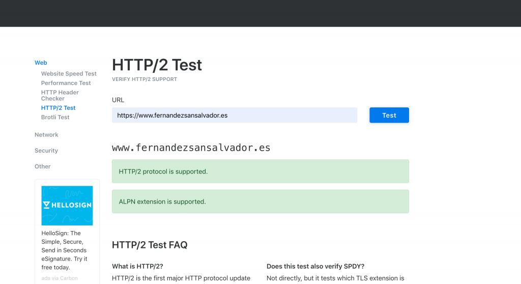 Test http/2